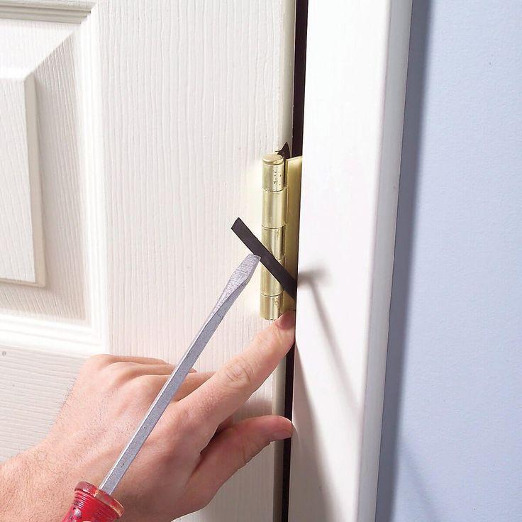 How To Shim Gapping Doors Diy Diy Home Repair Home