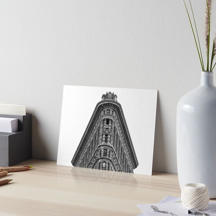 Flatiron Building Art Board • Also buy this artwork on wall prints, apparel, stickers, and more.  #NY #NYC #USA #America #UnitedStates #Manhattan #FlatironBuilding #Architecture #Structure #BlackAndWhite #Monochrome #Historic #Skyscraper #HighRise #FullerBuilding #NewYork #NewYorkCity #Art #Print #Posters