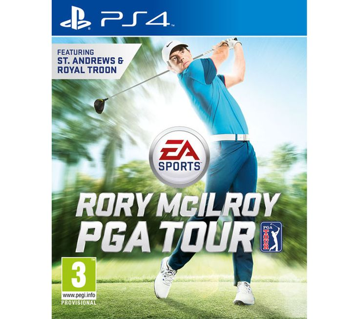 PLAYSTATION 4 Rory McIlroy PGA Tour for PS4 Price: £ 39.97 The much anticipated EA SPORTS Rory McIlroy PGA Tour for PS4 golf game for PS4 is finally here. Improved golfing Since the Tiger Woods PGA Tour games, there has been more than one drastic change. The features have been streamlined, with focus moving onto the actual course play experience, rather than unnecessary additional content....