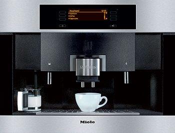 Ja een mooie inbouw espresso machine.