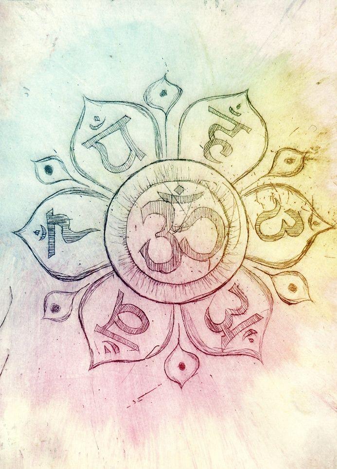 Om, lotus, chakras