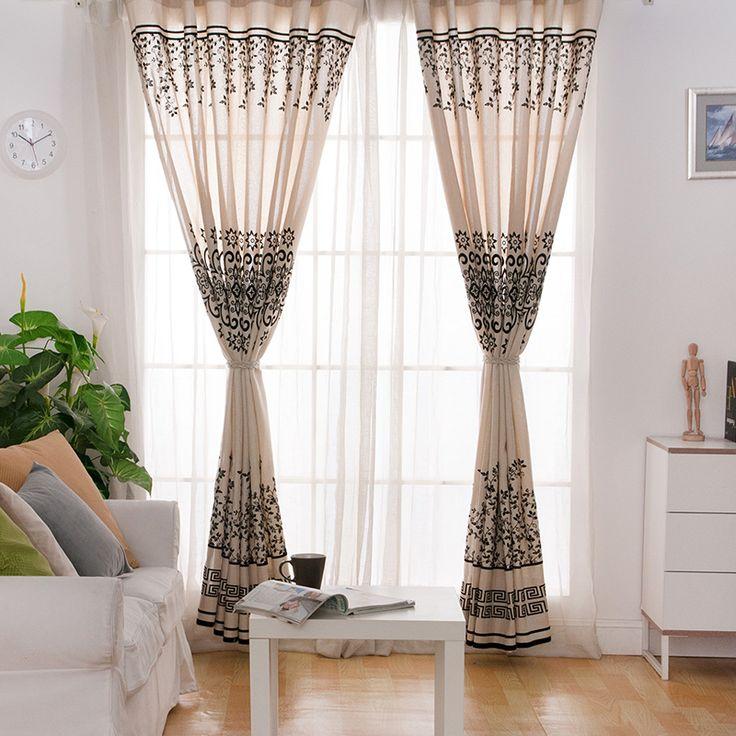black linen curtain for girl room