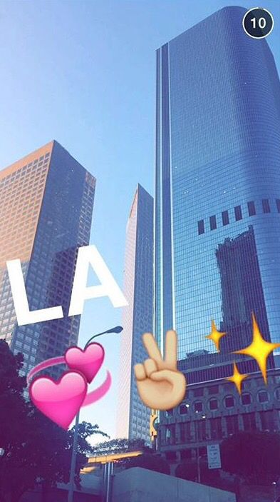 I want go LA so bad love your snapchat Alisha oh my gosh so cute