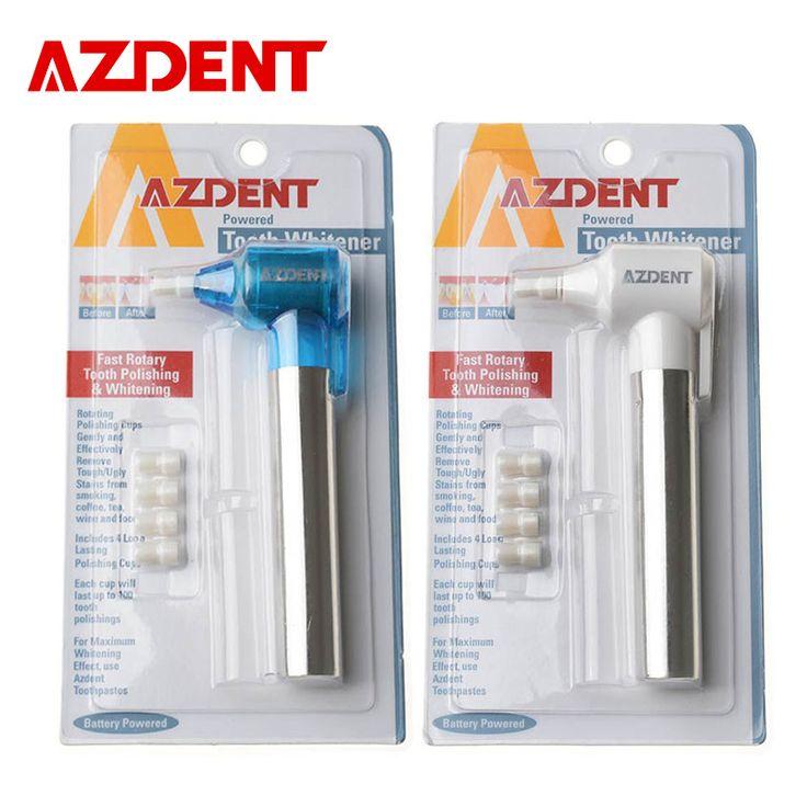 Azdent răng răng làm trắng răng đánh bóng làm trắng răng người đánh bóng đánh bóng stain remover whitelight răng làm trắng chuyên nghiệp kit