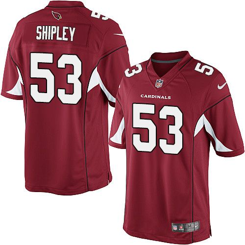 Men's Nike Arizona Cardinals #53 A.Q. Shipley Limited Red Team Color NFL Jersey