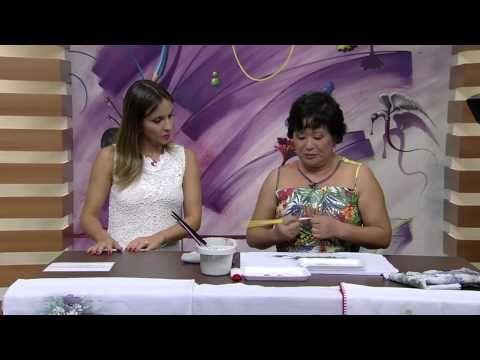 Mulher.com 15/01/2015 Crisantemos com tinta puff por Julia Passerani Parte 1 - YouTube