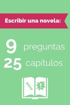 9 preguntas y 25 capítulos para escribir tu novela. El arte de la novela.
