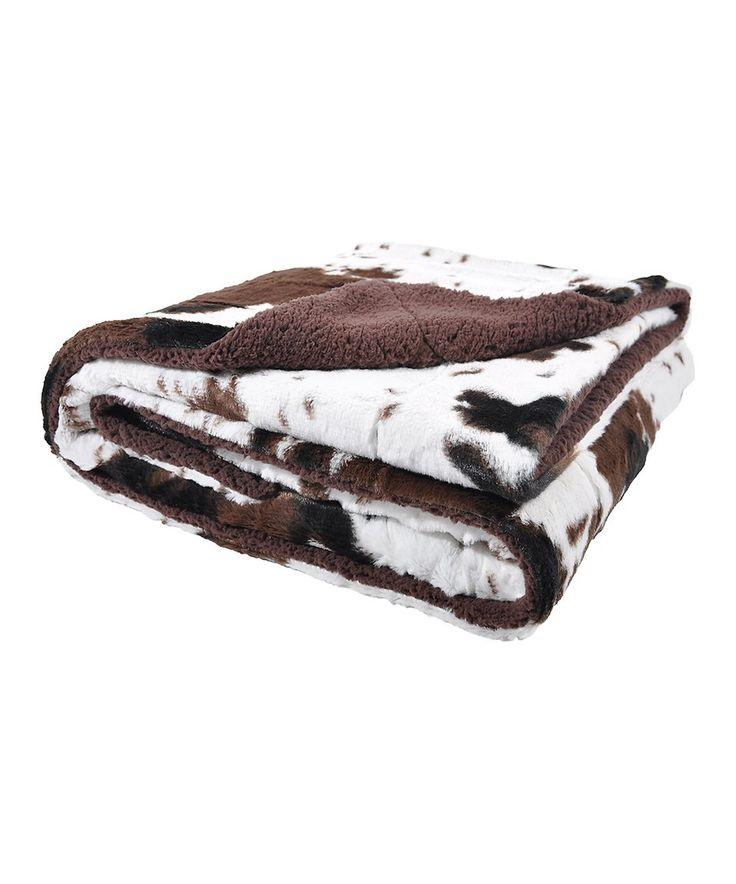 Look at this #zulilyfind! Sleeping Partners | Plush Cow Throw Blanket by Sleeping Partners #zulilyfinds