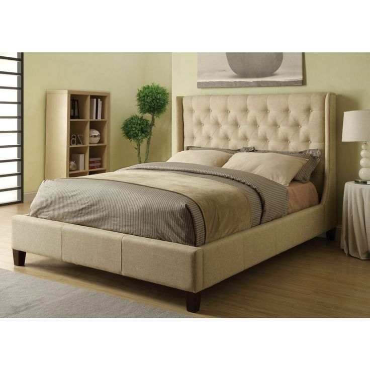 king size button tufted headboard 1