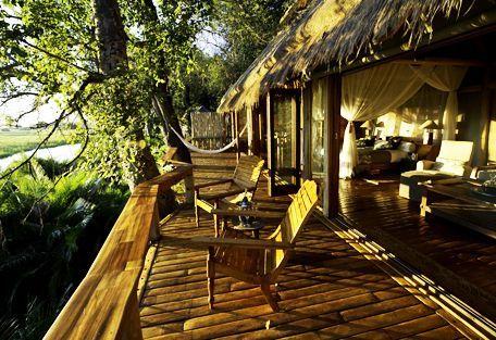 Jao Camp - Your private deck overlooking the Okavango Delta