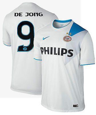 NIKE LUUK DE JONG PSV EINDHOVEN AWAY JERSEY 2014/15 Football White/Laser Blue