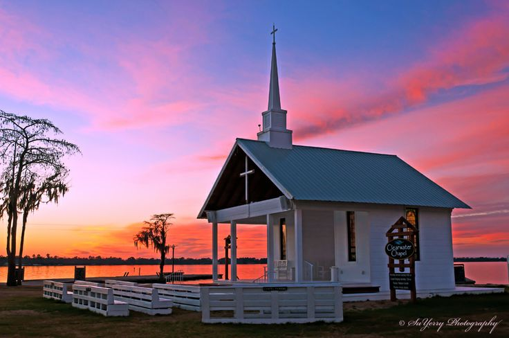 Sunset over Camp Clearwater Chapel at White Lake, NC https ...