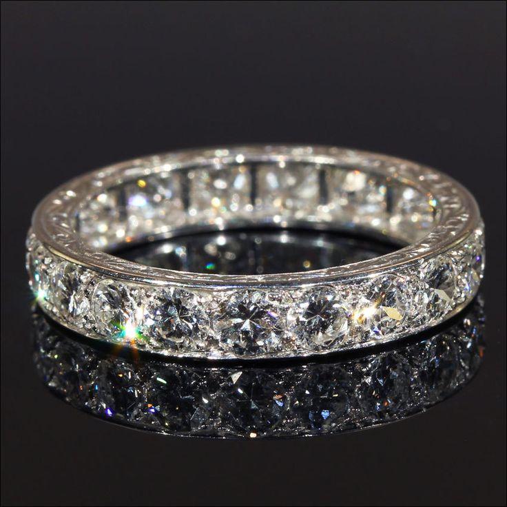 Diamond Eternity Rings In Platinum