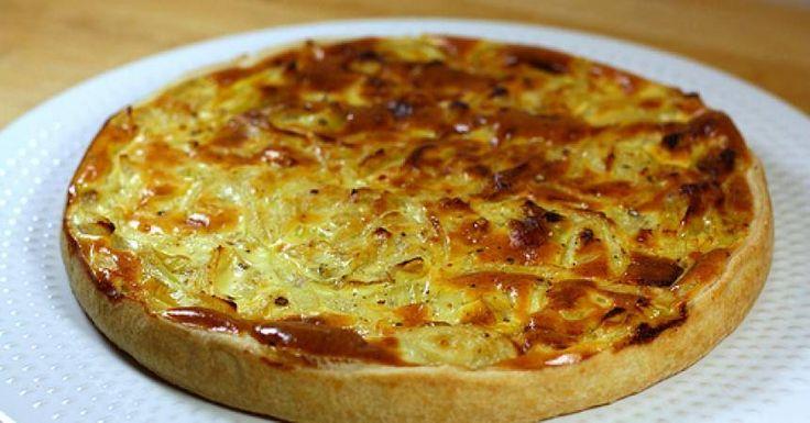 Recette de la tarte aux oignons légère