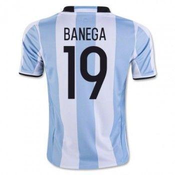 Argentina 2016 Banega 19 Hemmatröja Kortärmad   #Billiga  #fotbollströjor
