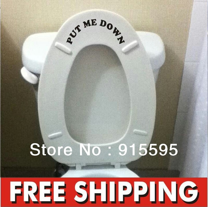 put me down toilet bathroom decal funny vinyl sticker wall art potty