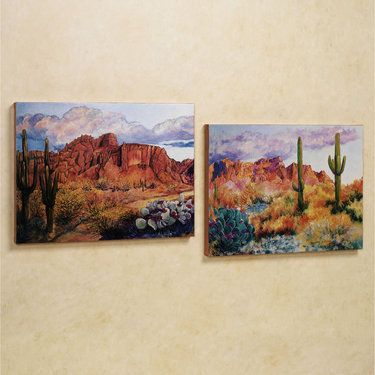 Superstition Southwest Desert Canvas Art Set
