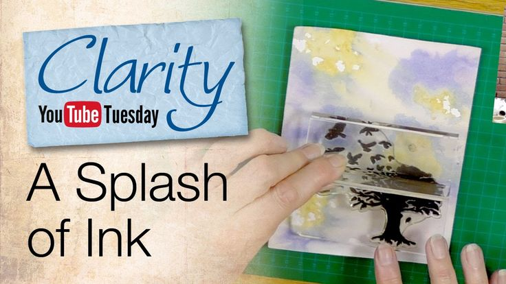 A Splash of Ink - Barbara shows a very simple trick for making backgrounds. All you need is alcohol inks, water and paper!