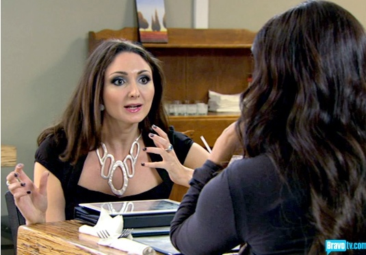 Pantheia Bib Collar necklace on Millionaire Matchmaker Season 5 Episode 10 - www.pantheia.com
