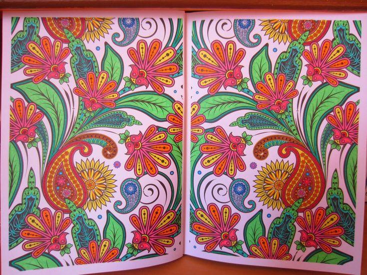 livro ArteTerapia AntiStress  Jardins – 100 imagens para colorir