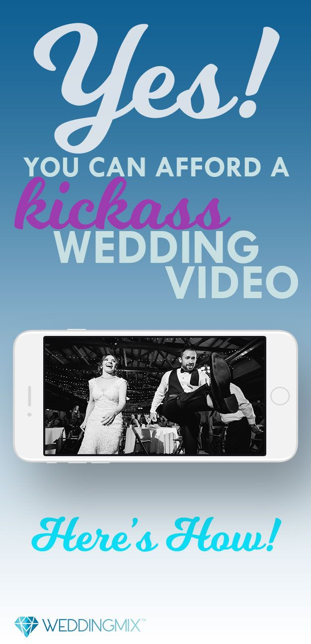 Wedding video got cut from your budget? No worries. With WeddingMix, you can get an amazing wedding video for less than the price of your shoes! Your guests film with the WeddingMix app and available rental cameras. Every package includes an edited highlight video and all the raw footage. And why limit yourself to the wedding day itself? With WeddingMix you can include showers, wedding weekend, and even the honeymoon!