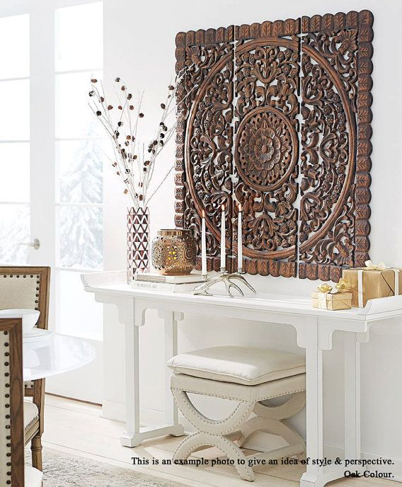Pier One White Carved Wall Decor : Ideas about carved wood wall art on