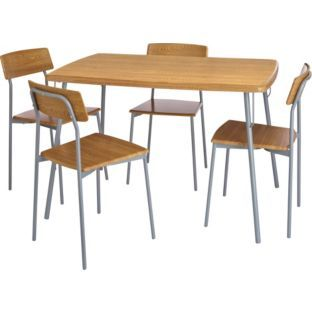 Buy Carmen Kitchen Dining Table And 4 Oak Effect Chairs At Argoscouk