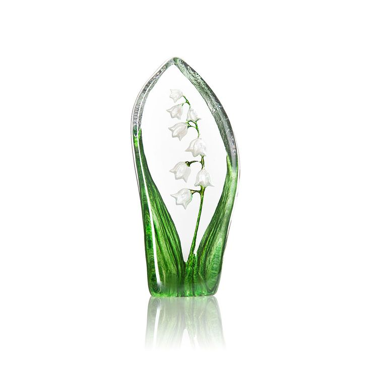 Floral+Fantasy+Lilje+Hvit,+Målerås+Glasbruk