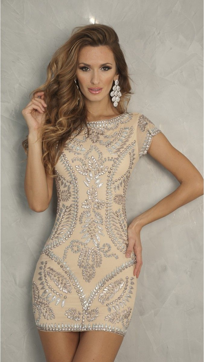 MEITAL DRESS IN NUDE - SHORT DRESSES