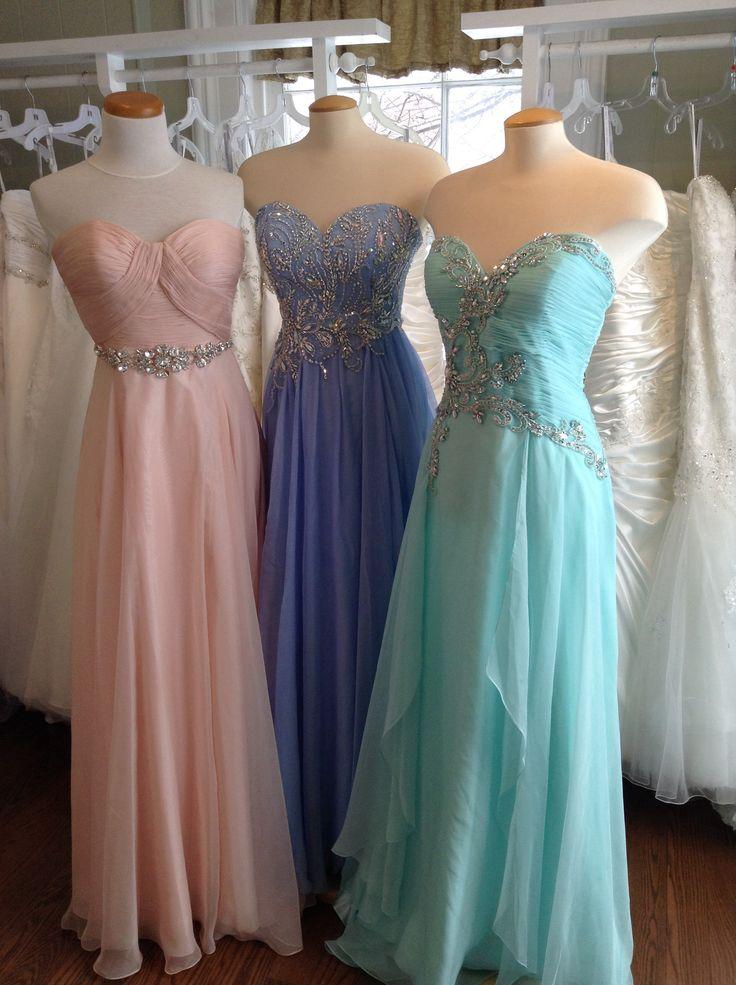 Prom dresses in stock.