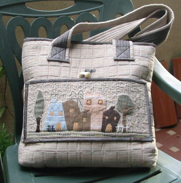 Houses bag #quiltedbag