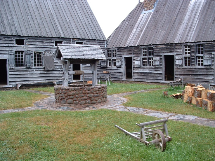 Interior of the fort at Port Royal, Acadia.  http://emptynestancestry.com/2012/07/15/there-were-costs-and-benefits-to-conducting-family-tree-research-before-we-had-the-internet/# #Acadia #Acadians #Port Royal #Nova Scotia