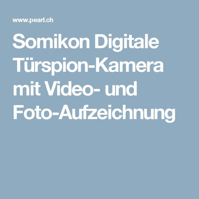Somikon Digitale Türspion-Kamera mit Video- und Foto-Aufzeichnung