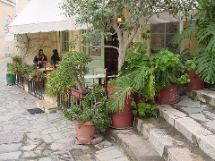 Klepsydra Cafe in the Plaka