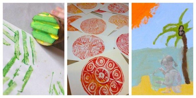 So many awesome printmaking ideas