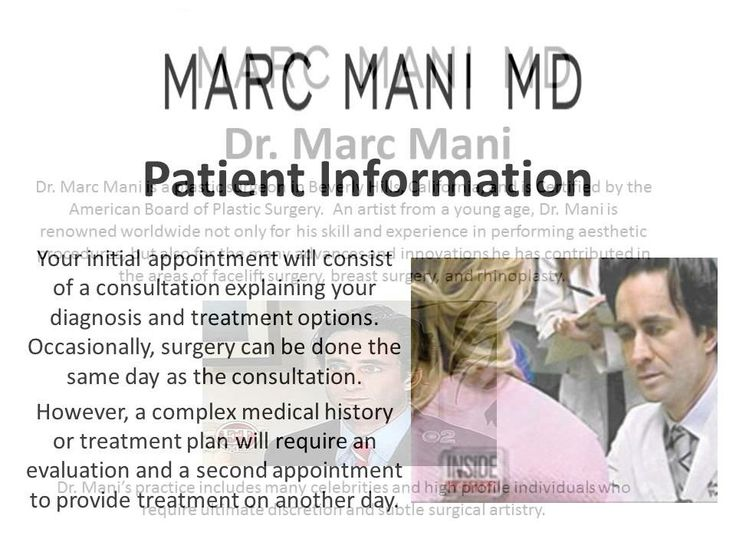 Board Certified plastic surgeon Marc Mani is widely recognized as one of the top plastic surgeons in Beverly Hills. An artist from a young age, Dr. Mani believes that aesthetic surgery is an art form that brings out inner beauty by enhancing confidence. With practices both in Beverly Hills and Dubai, he provides the best-possible, highly-individualized care to patients from all over the world, including many celebrities and high-profile individuals from other spheres.