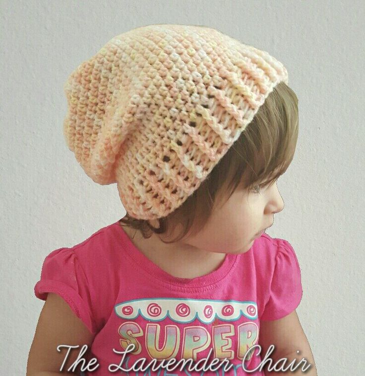 Simply Slouchy Beanie Toddler/Child (Free Crochet Pattern)