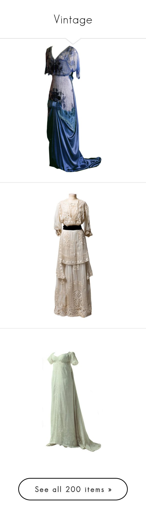 """""""Vintage"""" by floriane97 ❤ liked on Polyvore featuring dresses, gowns, titanic, costume, vestidos antiguos, vintage, edwardian, brown evening gowns, edwardian dress and vintage ball gowns"""