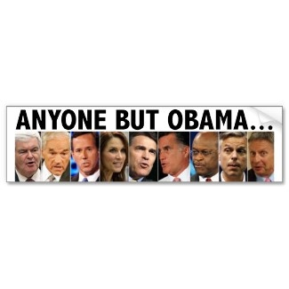 GOP Nine - 2012 Republican Primary Election Bumper Stickers