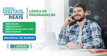 TI Rio: Senai oferece cursos online de Tecnologia da Informação e Lógica de programação de graça