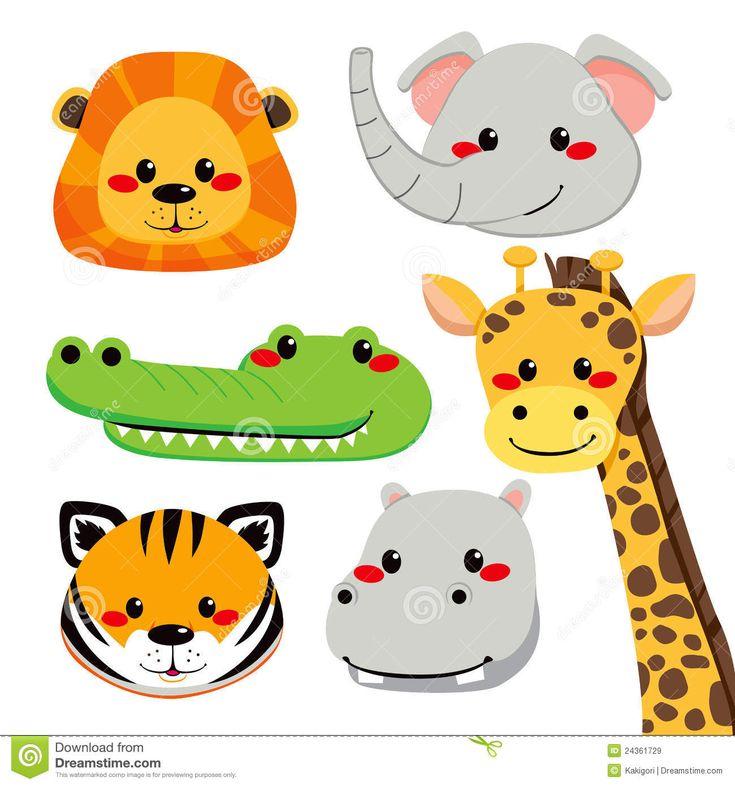 Днем, картинки для детей лица животных из нарезки
