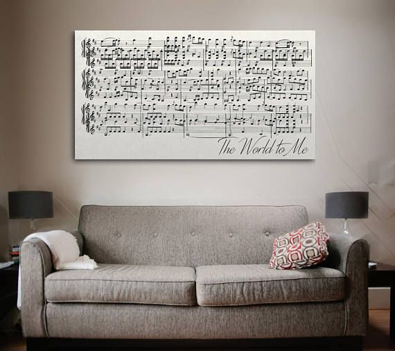 Anniversary gift sheet music art is a unique home decor idea. It is a great gift option as well for an anniversary, a birthday, gift for her or gift for him. **Choose your own song** Made-To-Order Ready to order? 1. Make the order through Etsy with Paypal or Credit Card 2. Write the