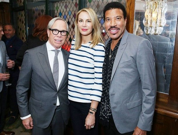 Tommy Hilfiger his wife Dee Ocleppo and Lionel Richie in Londres