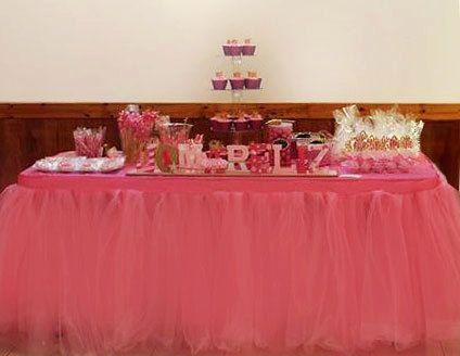 Custom Tutu Table Skirt, Candy Buffet, baby shower, bridal shower