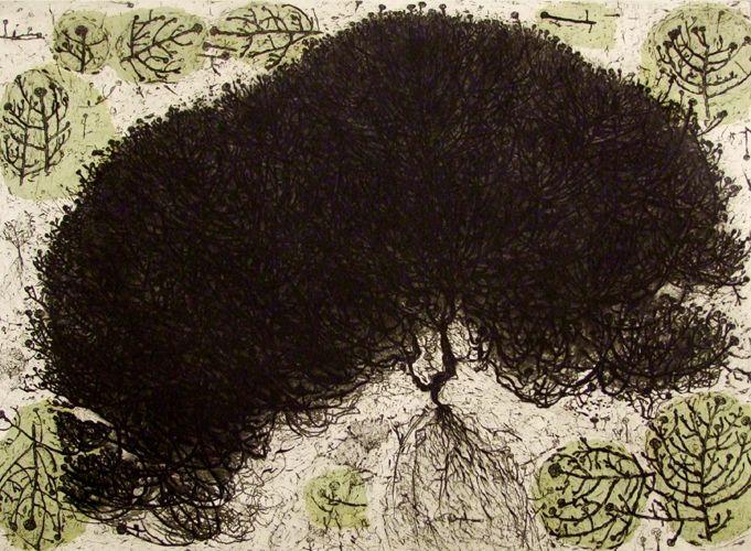 Hertha Kluge-Pott(German/Australian, b.1934)Portrait of a silent personage 1996 drypoint edition 6 64.5 x 89 cm via