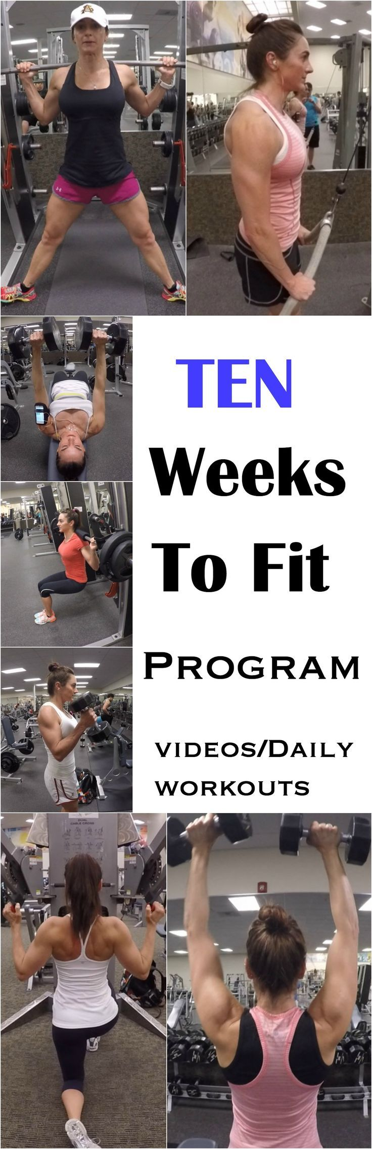 nice 10 WEEKS TO FIT PROGRAM WITH VIDEOS AND DAILY WORKOUTS!...