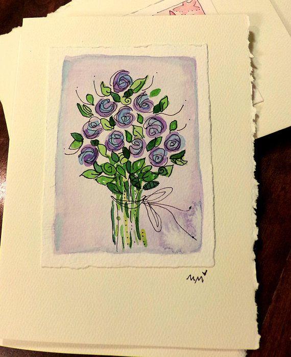 You Are A Rose In Eternal Bloom  Watercolor Original