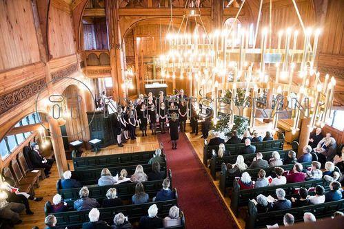 25 декабря 2016 года члены королевской семьи Норвегии и рождественское богослужение: Группа В некотором царстве-государстве...