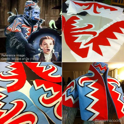 Flying Monkey Jacket from Wizard of Oz by Breanna Cooke