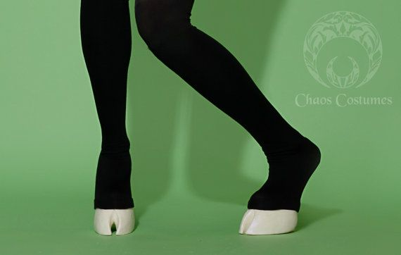 my friend Blair makes these and i need some Size 10 ASAP Unisex Simple Hoof Shoes and Thigh High Leggings by ChaosCostumes